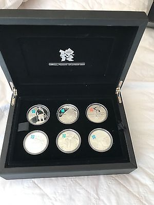 """2009 Celebration of Britain """"the Icons"""" silver proof 6 x 5 pound coins"""