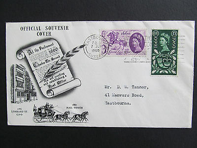 GB 1960 - General Letter Office FDC - Eastbourne Slogan - SCARCE! Cat: £160.