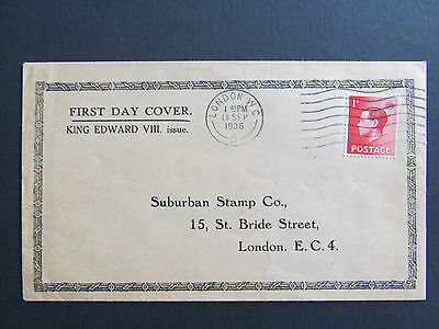 GB 1936 - Edward VIII - 1d FDC - Display Cover - SCARCE! - Cat: £150