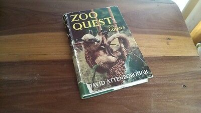 Signed First Edition Hardback Zoo Quest to Guiana David Attenborough 1956