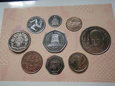 Isle of Man 1995  Coin Collection Set. Includes VE VJ £2 Coins *RARE*