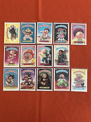 Garbage Pail Kids 2nd Series Lot Of 14 Cards Excellent-Near Mint Condition
