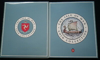 Isle of Man 1991 Coin Collection Set (Unc) Includes £2 & £5 Very Rare Jet & Ship