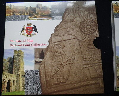 Isle of Man 2000  Coin Collection Set. (Unc) Includes Rare 50p &  £2