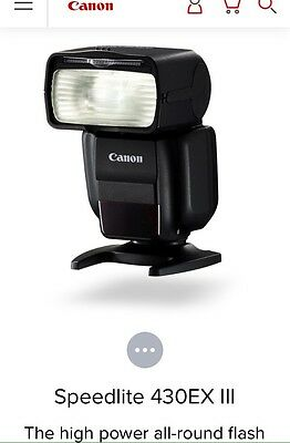 Brand New Canon Camera Speedlite Ex Ii Flash With Case