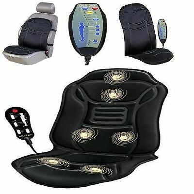 Heated Massage Cover Chair Cushion Car Seat Home Pad Pain Lumbar Neck Shoulder N