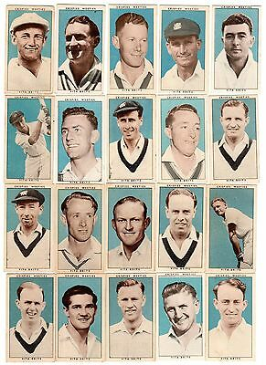 Cereal Foods Leading Cricketers 1948 cricket cards, full set inc Bradman