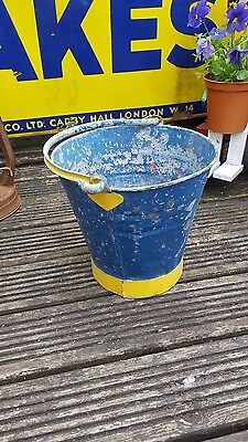 vintage galvanised pale coal bucket vintage garden planter feature decor