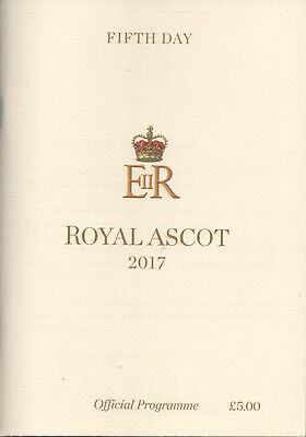 Race Cards: Royal Ascot 24 June 2017 - 5th Day