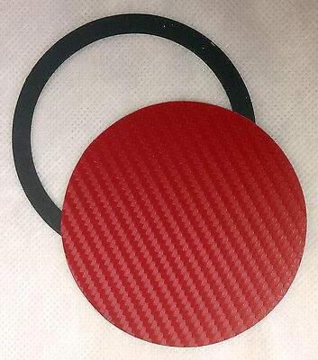 Universal Magnetic Tax Disc & Parking Permit Holder - Red Carbon Fibre Effect