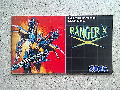 Ranger-X Manual - Sega Mega Drive - NO GAME MANUAL ONLY (PAL)