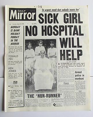 Daily Mirror Replica Newspaper ,August 29,1970 , Features Isle Of Wight Festival