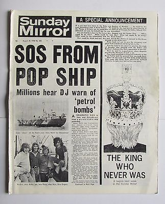 Sunday Mirror Replica Newspaper ,August 30,1970, Features Isle Of Wight Festival