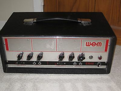 WEM / Watkins ER40 vintage solid state amp for guitar, bass etc.