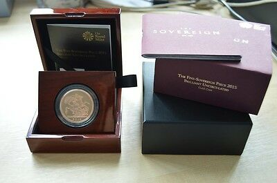 2015 Gold Proof 5 Sovereign Coin Royal Mint