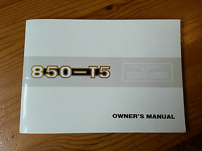 Moto Guzzi, 850-T5, 850 T5, Owner's Manual, 1983, new and unused, NOS