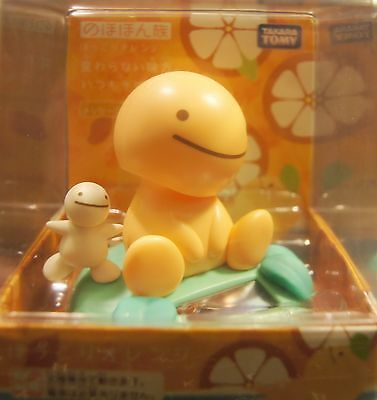 "Japan TOMY Nohohon Zoku 3"" Bobble Head Figure Sunshine Buddies Warm Orange"