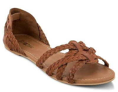 Just Because Women's Hula Tan Leather Sandal, Size 7