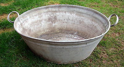Old Tin Bath.Trough Tub Plant Pot Planter Garden Herbs. 2 handles.