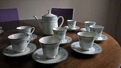 Beautiful vintage Noritake Blue Hill design tea set