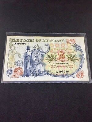 The States Of Guernsey Ten Pound Note, C H Hodder, Sir Isaac Brock 1975
