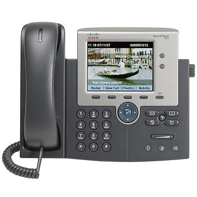 Cisco 7945 CP-7945G SCCP / SIP IP Colour VoIP Phone Free Delivery!
