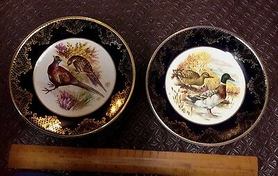 2 Weatherby Hanley England Royal Falcon Ware Ducks And Pheasant Plates