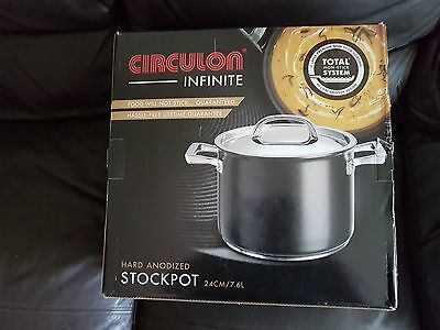 Circulon Infinite Hard Anodised 24 cm / 7.6 Litre Stockpot BNIB