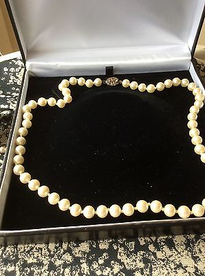 50 cm cultured? pearl necklace with silver 925 clasp
