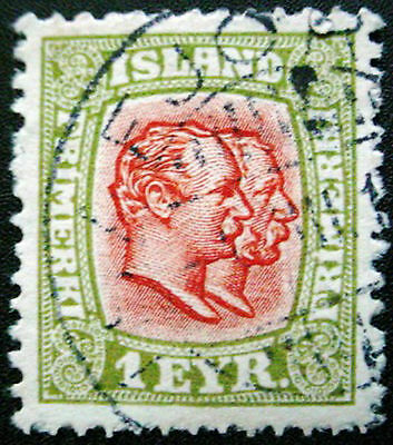 Iceland 1907:  Collection Of 7 Used Stamps