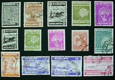 Bangladesh: Collection Of 14 Used Stamps: Lot 1