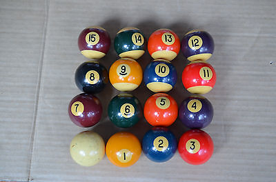 Full Set Of Heavy Old Used 8 Ball Pool Balls