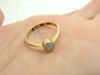 Antique Edwardian Delicate Opal & 9ct Gold Ring UK 'K/L' Damaged -Spares/repair