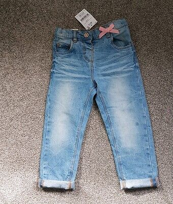☆☆☆BNWT Next baby girl light blue jeans 18-24 months with adjustable waist ☆☆☆