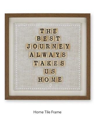 NEXT Home tile Wooden Frame Picture,Plaque,Wall Art.New Sealed