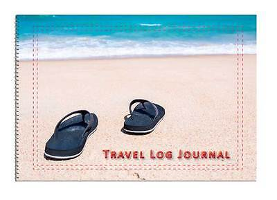 Caravan or Motorhome Owners, Travel Record Log & Journal - Flip Flops & Beach D6