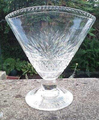 Vintage Large Thomas Webb Corbett Cut Glass Crystal Fan Shape Vase