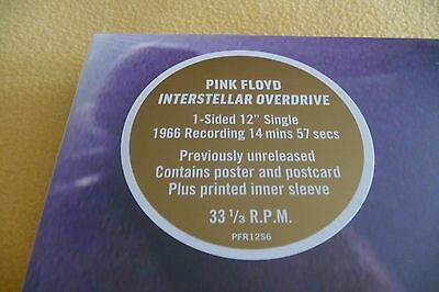 """PINK FLOYD 'INTERSTELLAR OVERDRIVE' 12"""" RECORD STORE DAY RSD 2017 + poster+ card"""