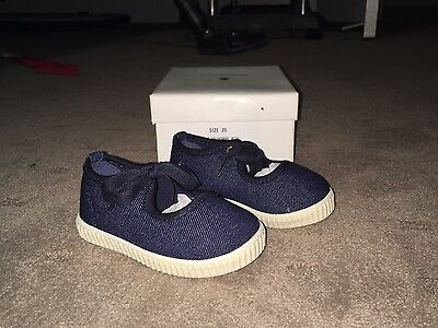 Country Road Girls Denim Shoes. Size 20. Brand New In Box.