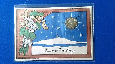 Gibraltar Christmas 50p 1989 BUNC In presentation card