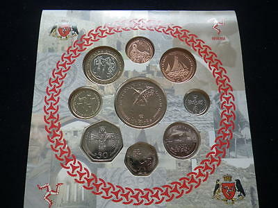 Isle of Man 2001  Coin Collection Set. (Unc) Includes Rare 50p &  £2