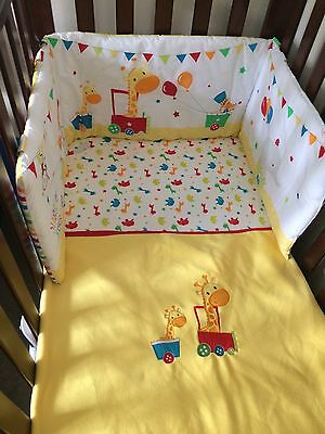 Mothercare Little Circus Cot Cotbed Bumper Excellent Condition