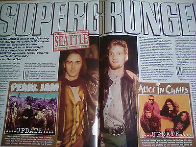 Mad Season 4 Page Article 1995 Kerrang Alice in Chains Layne Staley