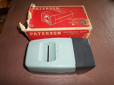 VINTAGE / RARE PATERSON MAJOR VIEW 35 Slide Viewer (Boxed) *FREE POSTAGE *