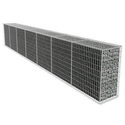 Gabion Wall with Cover 600 x 50 x 100 cm