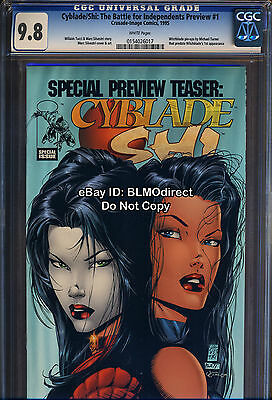 CGC 9.8 Cyblade / Shi #1 Preview 1st True Appearance Witchblade Michael Turner