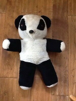 Chad Valley Chiltern Teddy Bear Jointed Brown Panda Soft Toy Vintage 1970s  80s