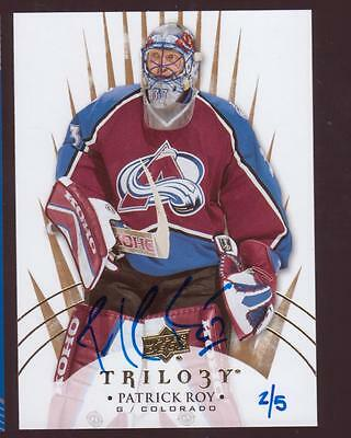 Patrick Roy -15-16 Upper Deck Buybacks - 14-15 Trilogy - Auto /5
