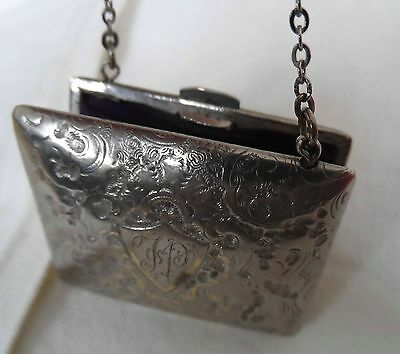 Edwardian German  silver tone purse probably for chatelaine