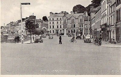 The Square Newry Co. Down Ireland Valentines Irish Postcard R2720 Posted 1957